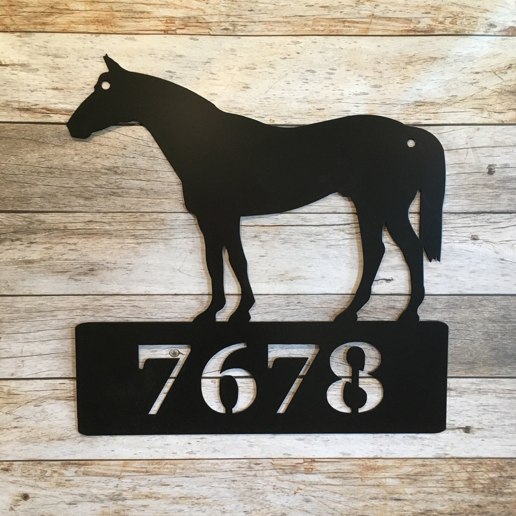 HN29 Standing Horse Address Sign