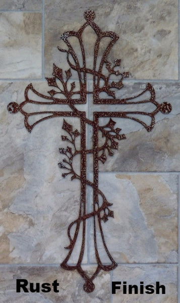 Metal Cross wall art silhouette horseflymetal.com