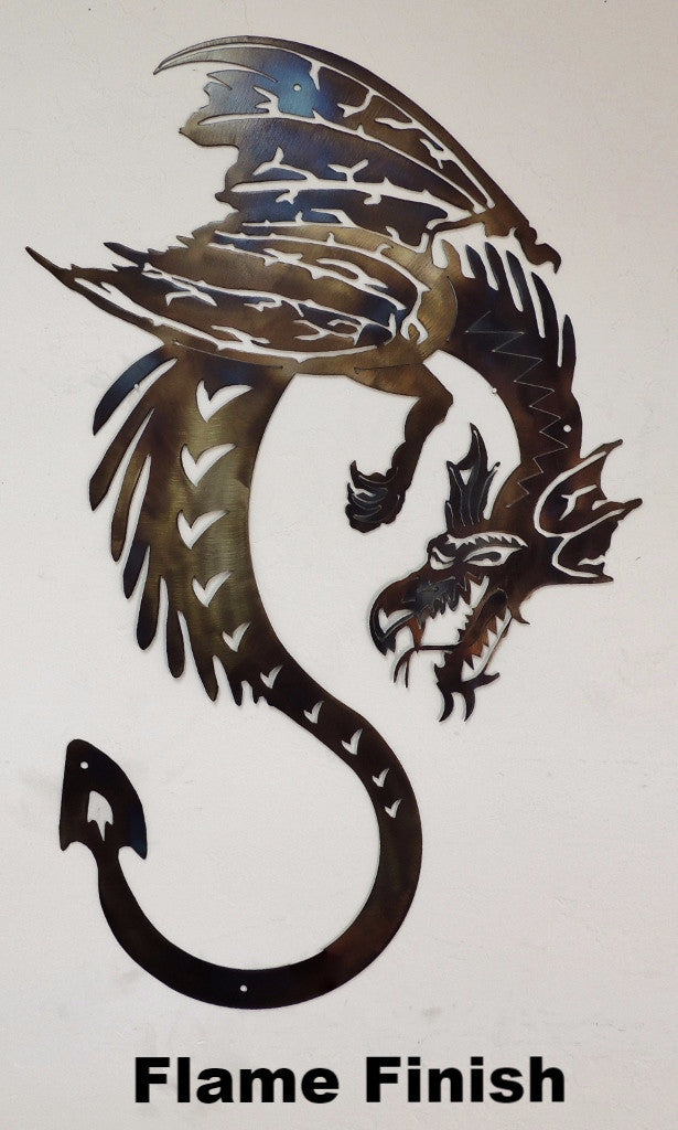 Dragon Metal Wall Art Silhouette. Dragon Wall Art Horseflymetalart.com