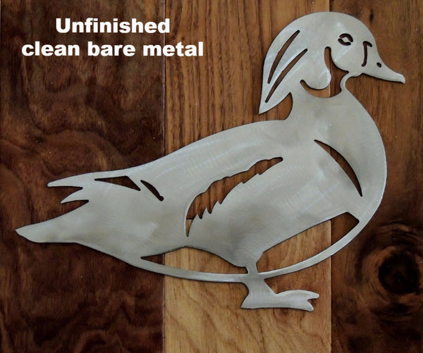 Wildlife Duck metal wall art silhouette. Duck metal wall hanging.  horseflymetalart.com
