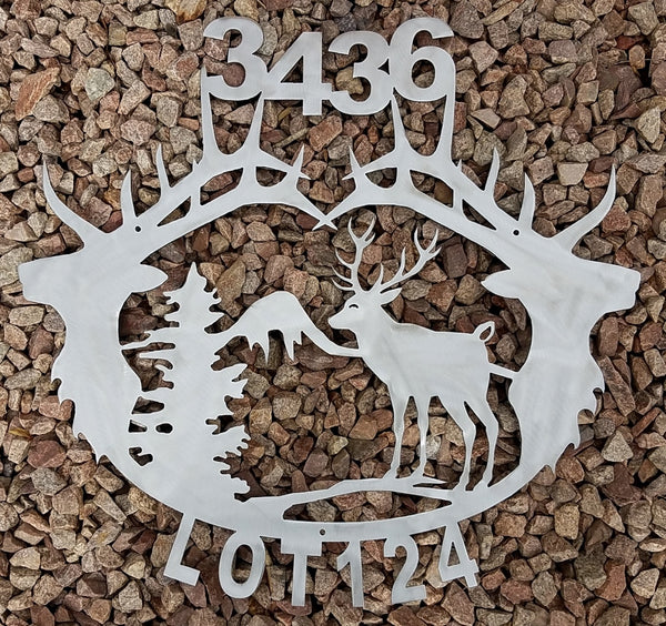 Elk Metal Address Sign. Elk Metal House Number