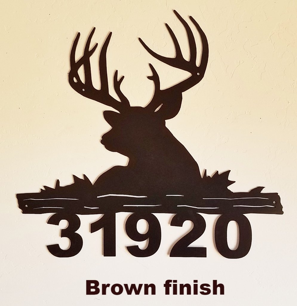 Welcome to Our Home Sign// House Sign Deer at Lake-Add Name and House Number