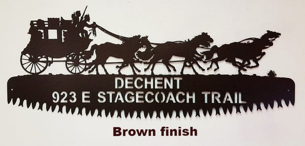 Stagecoach Custom Address Sign. Stagecoach Custom metal House Number
