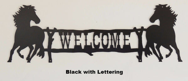 Metal Horse Welcome Sign. Horse Name Sign horseflymetalart.com
