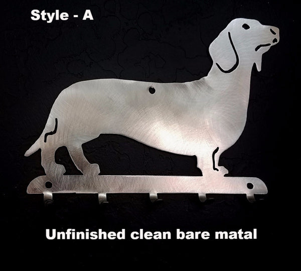 Dachshund metal Key Rack. Wiener Dog Key Holder horseflymetalart.com