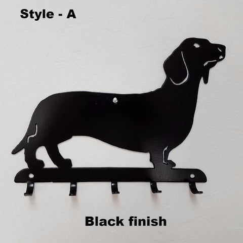 Dachshund Key Rack or Key Holder. Wiener Dog Leash holder Key Rack horseflymetalart.com