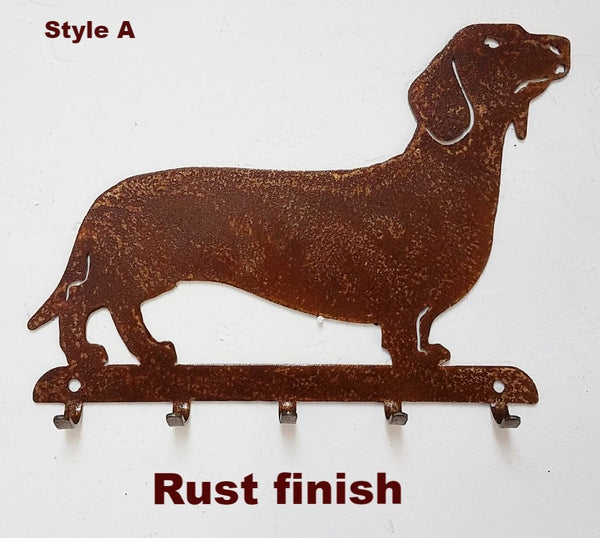 Dachshund Metal Key Rack or Key Holder. Dachshund Key or Leash Holder