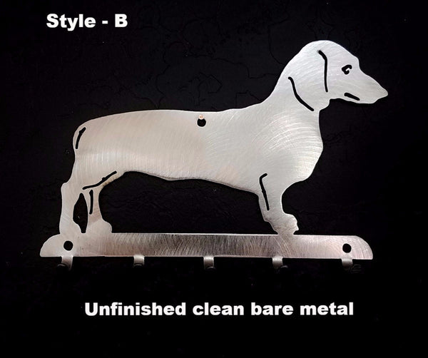 Metal Dachshund Key and Leash Holder or Rack Wiener Dog Key Rack  horseflymetalart.com