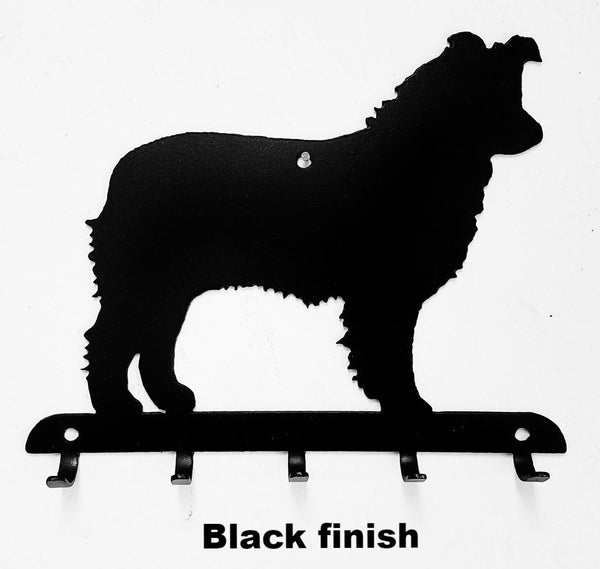 Australian Shepherd or Aussie metal Key Rack or Key and Leash Holder horseflymetalart.com