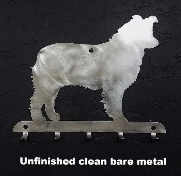 Aussie or Australian Shepherd metal Key Rack or Key and Leash Holder horseflymetalart.com