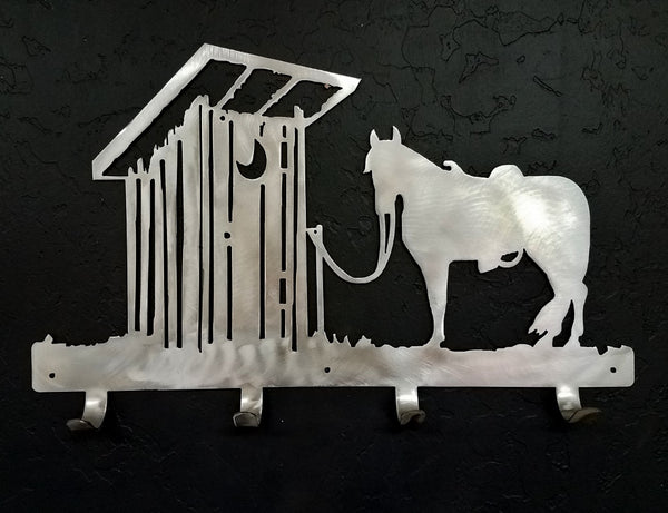 Horse & Outhouse metal coat rack horseflymetalart.com