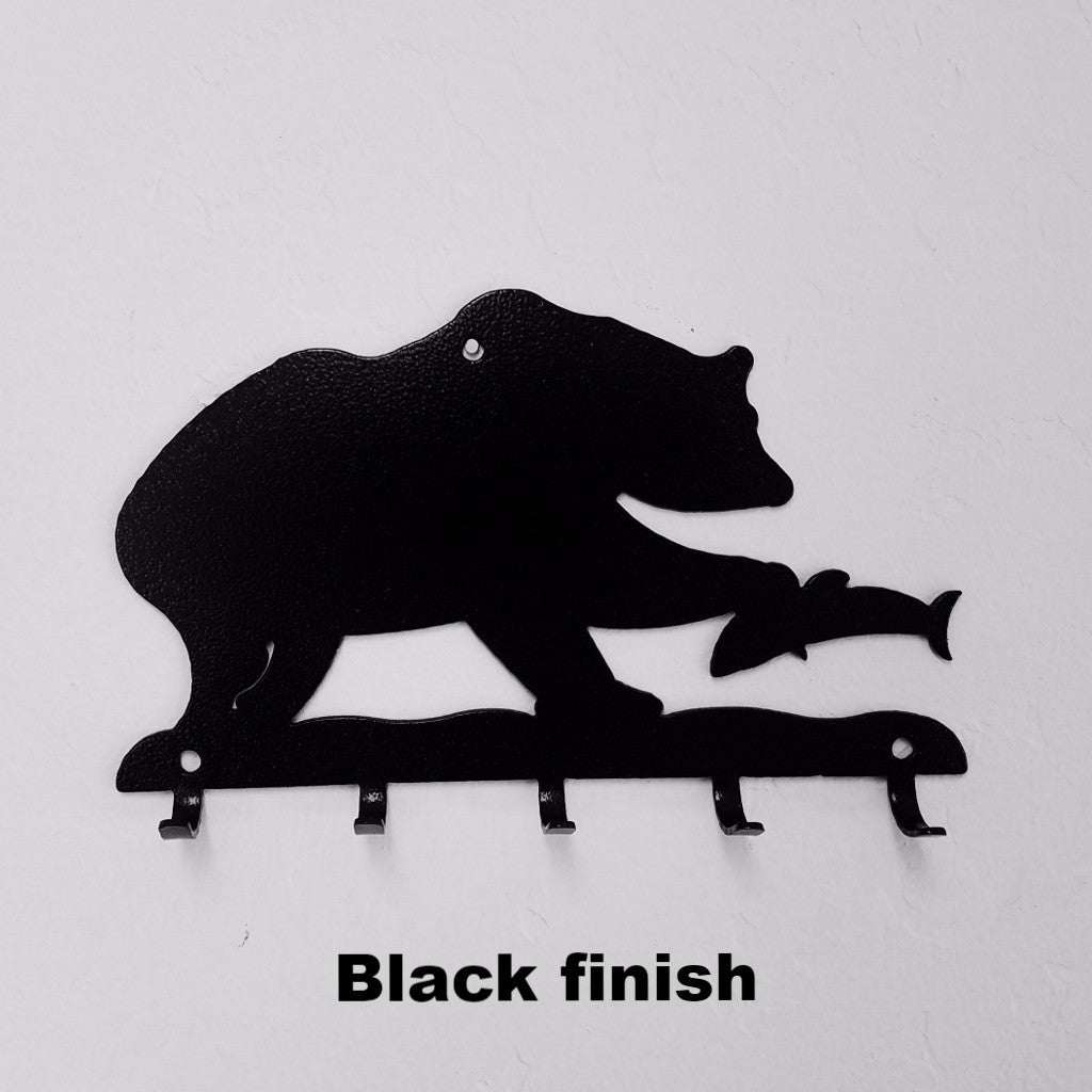 Bear & Fish metal key rack horseflymetalart.com