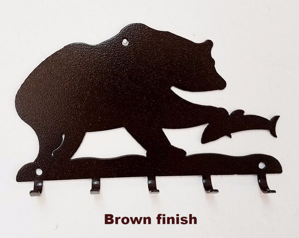 Metal Bear & Fish key holder horseflymetalart.com