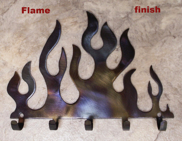 Metal Flame Key Hook or Key Rack  horseflymetalart.com