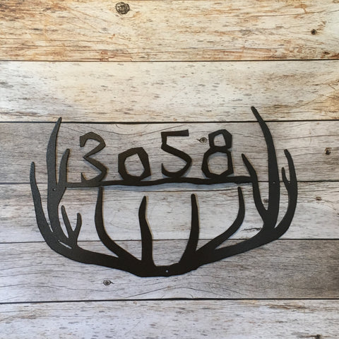 HN17A Antler Address Sign