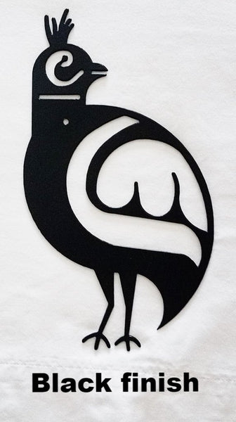 Native American Quail metal wall hangings. Quail Metal Wall Art