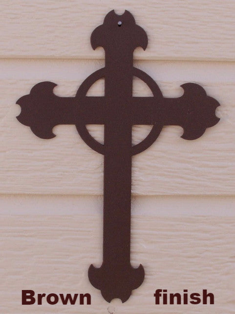 Metal Cross wall art silhouette  horseflymetalart.com