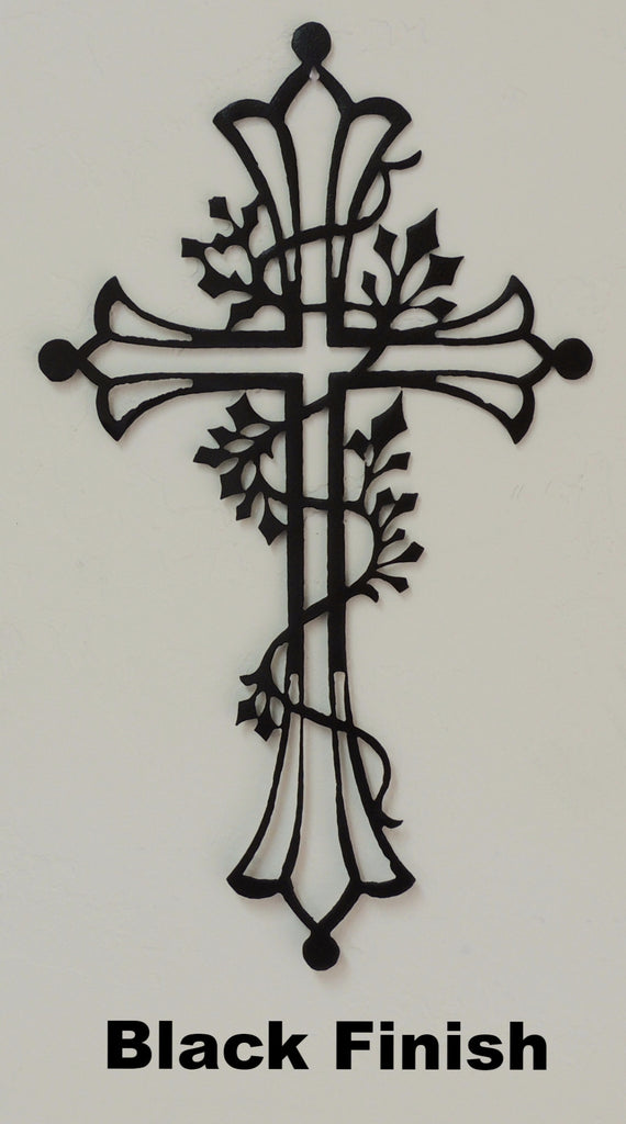 Cross silhouette wall art horseflymetal.com