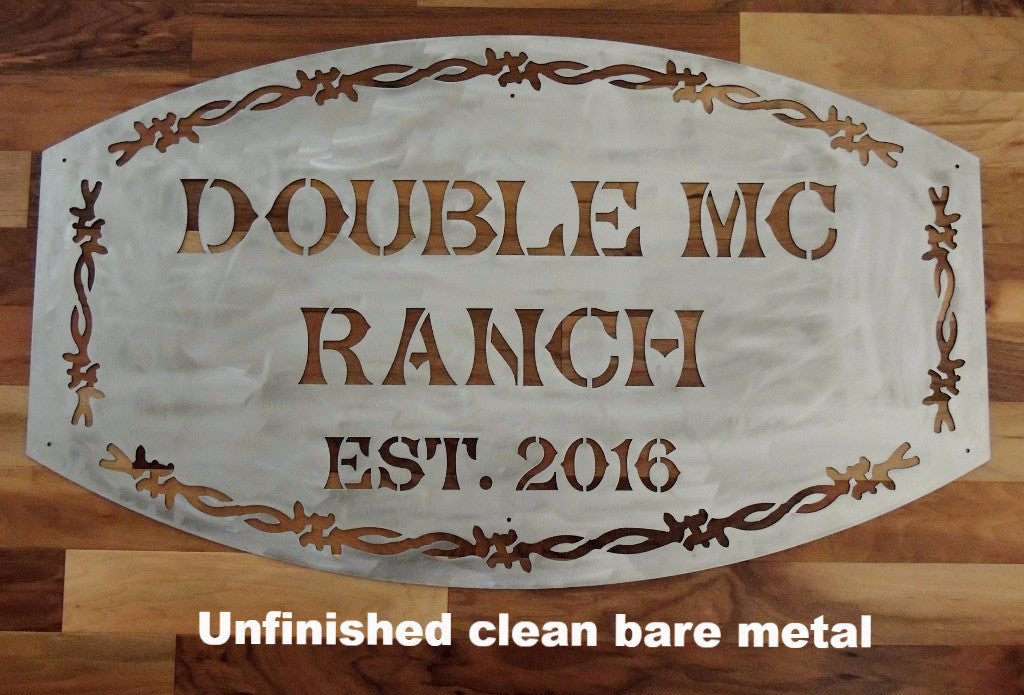 Metal Ranch entrance sign horseflymetal.com