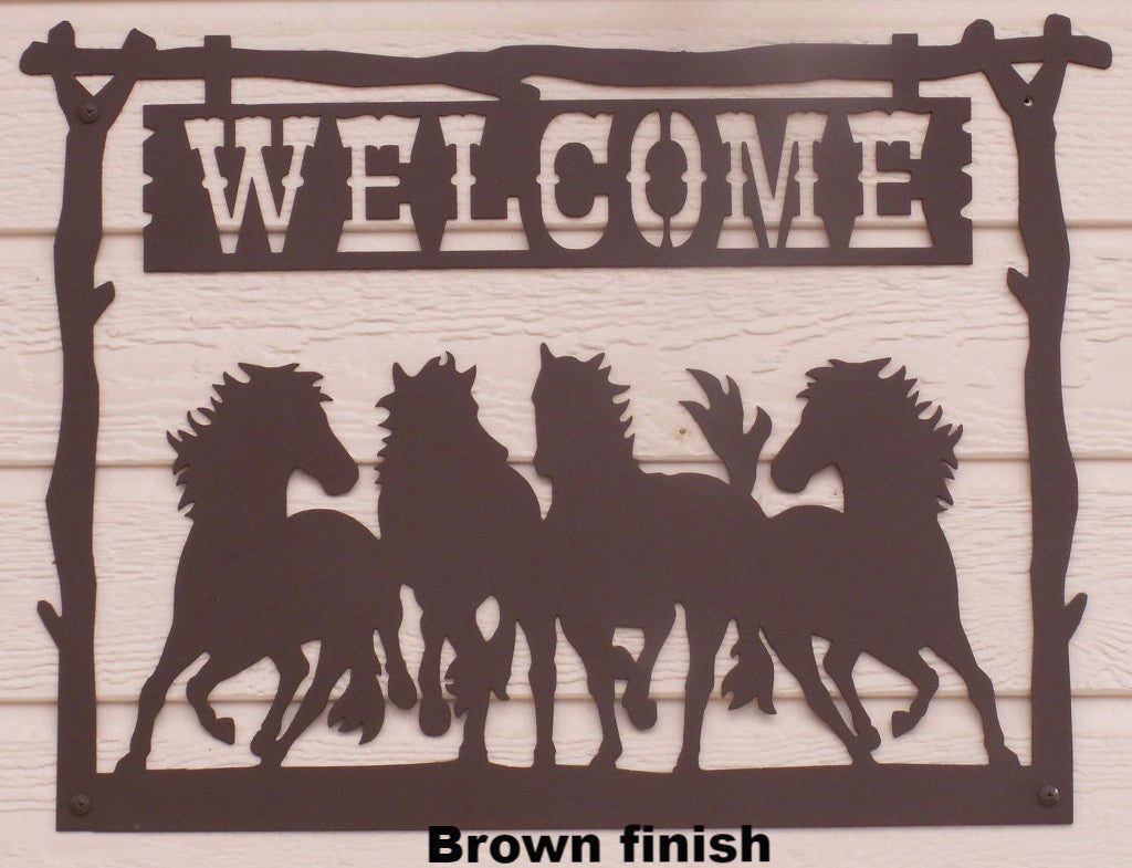 Welcome Sign 4 Horse horseflymetalart.com