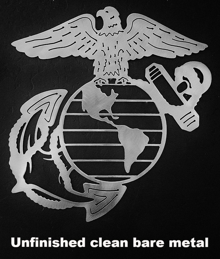 Marine Corps metal wall art. USMC metal sign silhouette. Military metal art