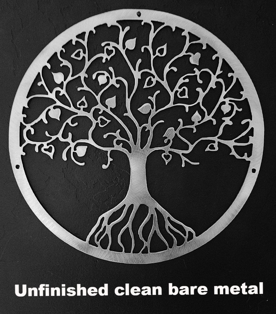 metal Tree of Life wall art. Tree of Life metal wall art hanging silhouette. Tree metal wall art