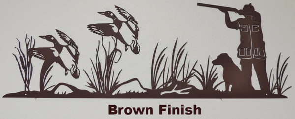 Metal Duck Hunt wall hanging. Wildlife Duck wall art horseflymetalart.com
