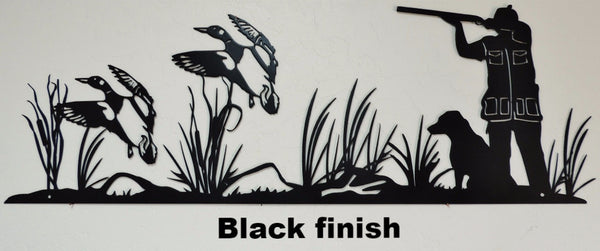 Duck Hunt metal wall art. Wildlife Duck Hunting Wall Art horseflymetalart.com