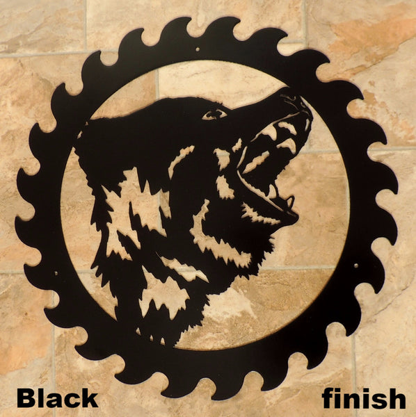 Metal Bear Wildlife Saw Blade Wall Art Silhouette horseflymetalart.com