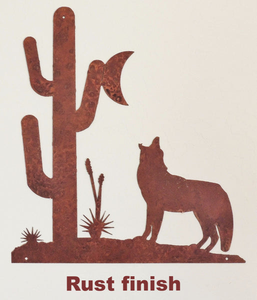 Coyote Howling at the Moon wall art. Howling Coyote silhouette