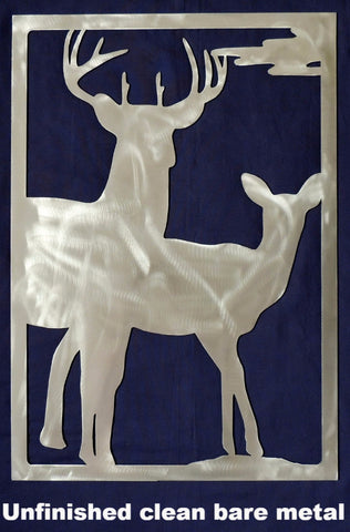 Metal Buck & Doe wall art. Deer gate insert horseflymetalart.com