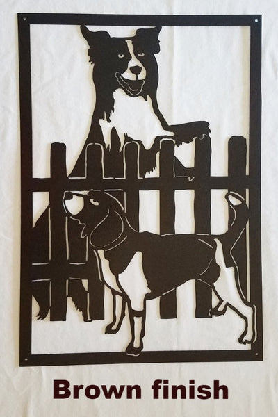 Dog and Hound Metal Wall Art. Dog Metal Wall Art or Gate Insert Silhouette