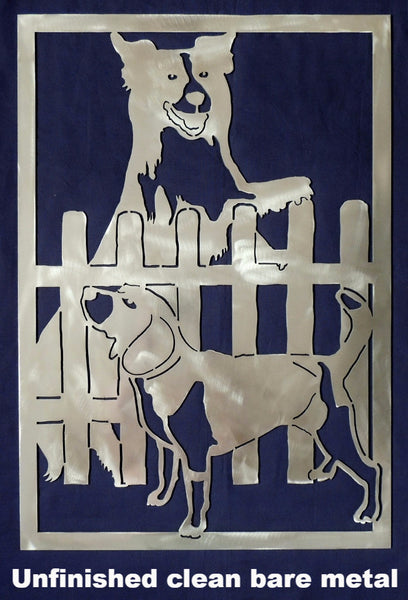 Dog and Hound metal wall art. Dog Metal Wall Art or Gate Insert Silhouette. Dog Gate Insert