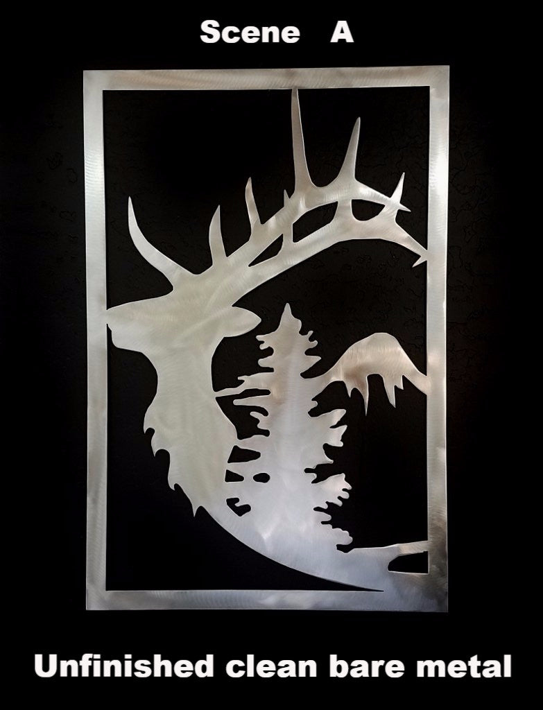 Elk Metal Gate Insert. Elk metal wall hanging. Elk metal wall art
