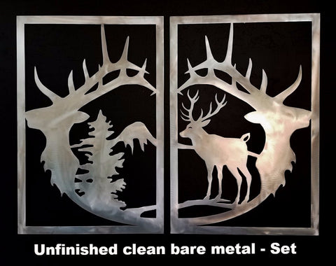 Elk metal wall art. Elk Metal Gate Insert. Elk metal wall hanging