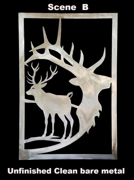 Elk metal wall hanging. Elk metal wall art. Elk Metal Gate Insert