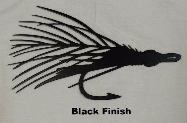 Fly Fishing Lure Metal Wall Art Silhouette. Fishing Lure Metal Wall Hanging