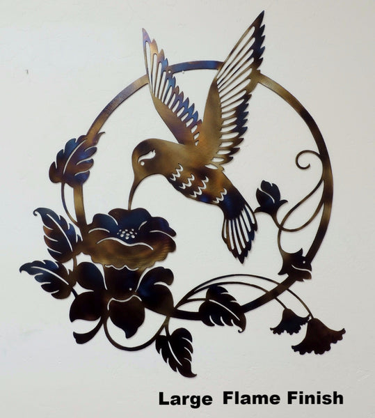 Hummingbird Metal Art Silhouette. Hummingbird Metal Wall Art