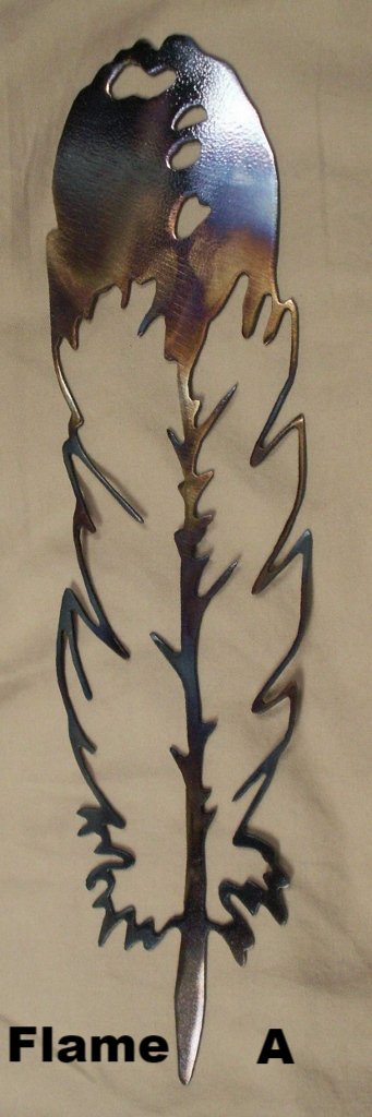 Metal Feather wall art silhouettes. Feather metal wall art silhouettes