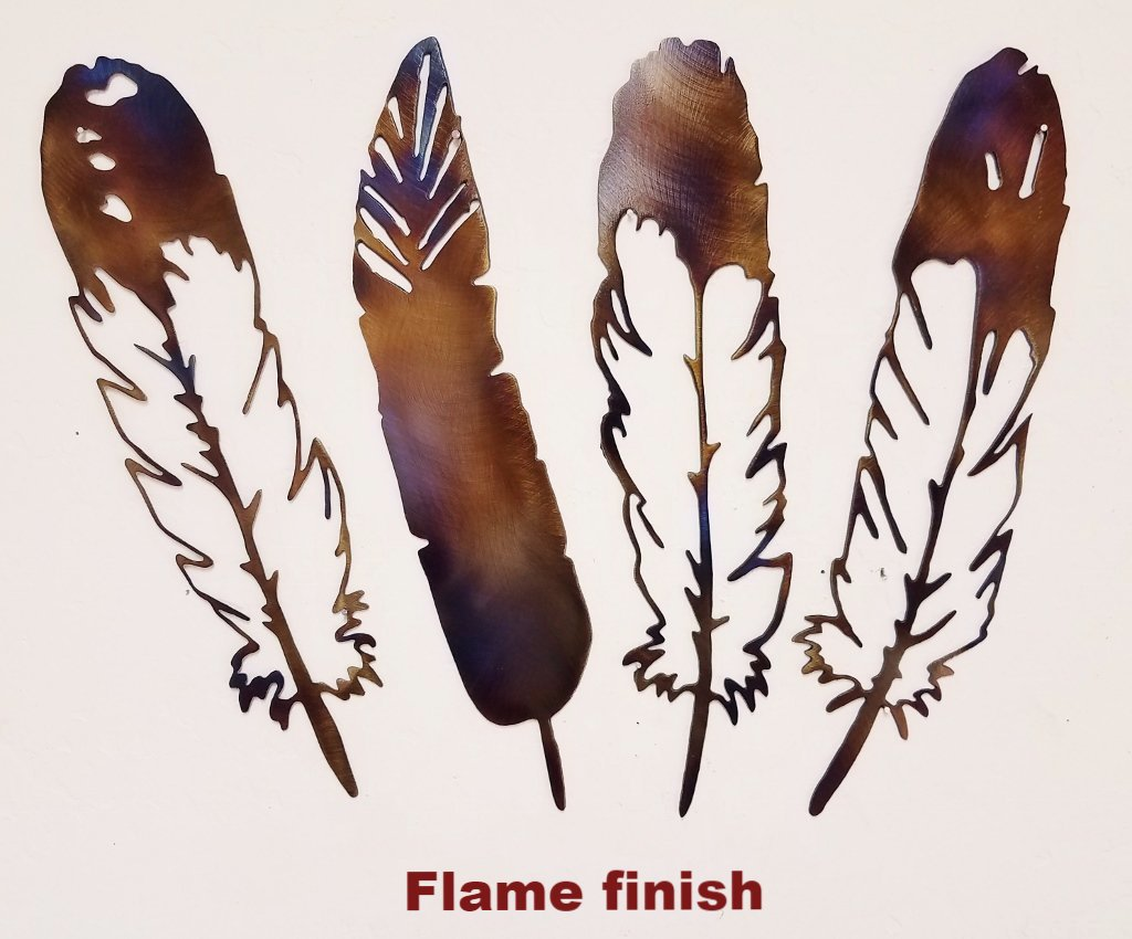 Feather metal wall art silhouettes  horseflymetalart.com