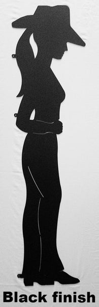 Cowgirl Silhouette Wall Art. Cowgirl Yard Art