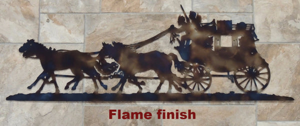 Metal Stagecoach wall hanging. Western Stagecoach wall hanging horseflymetal.com