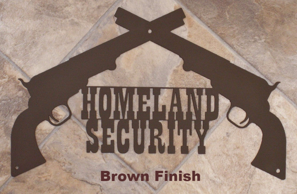 Metal Pistol Wall Art. Homeland Security Wall Art horseflymetal.com