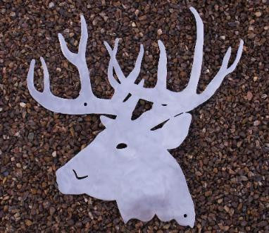 Deer or Buck metal wall art Hanging silhouette. Deer Wildlife metal wall art  horseflymetalart.com