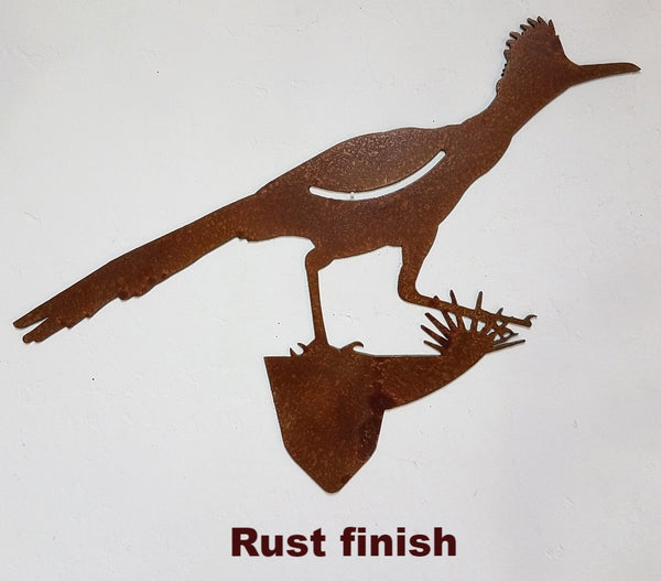 Roadrunner Bird metal wild Yard Art. metal Roadrunner Garden or Lawn art.