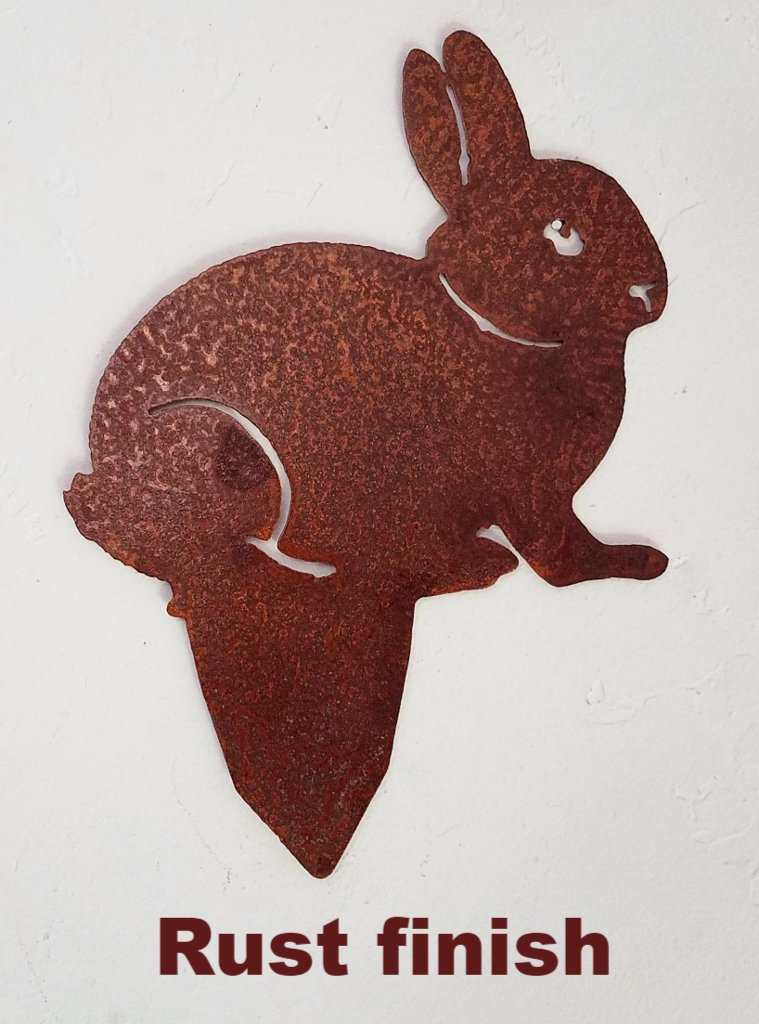 Bunny Rabbit Metal Yard Art. Bunny Garden Art. Bunny Rabbit metal Yard Art Silhouette