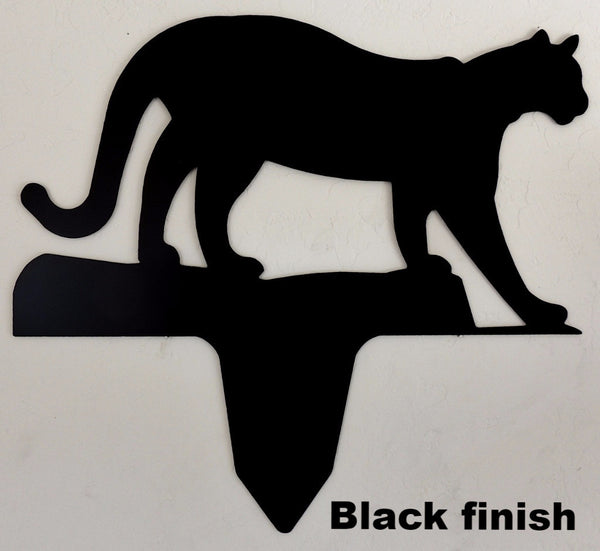 Mountain Lion yard or Garden art. Mountain Lion metal yard art silhouette