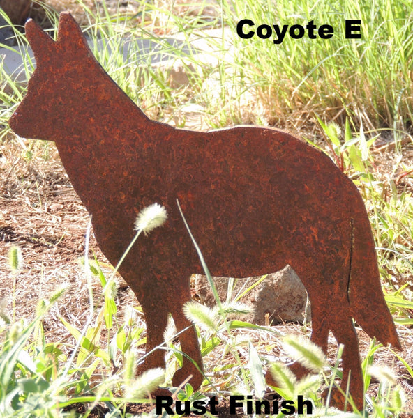 Coyote Yard Art. Metal Coyote Silhouette
