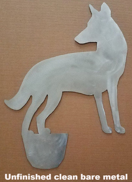 Cool Coyote metal Yard Art. Coyote Lawn and Garden Art.