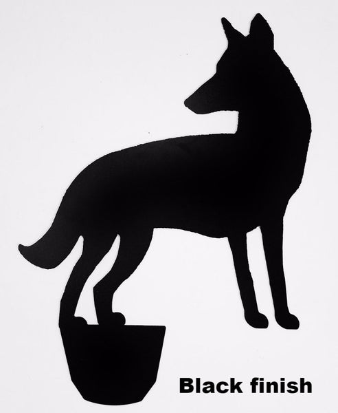 Large Metal Coyote yard art. Coyote Lawn or Garden Art Coyote metal yard art silhouette